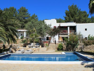 Photo for renovated XVII century estate with 8 rooms and pool 15 minutes from Ibiza