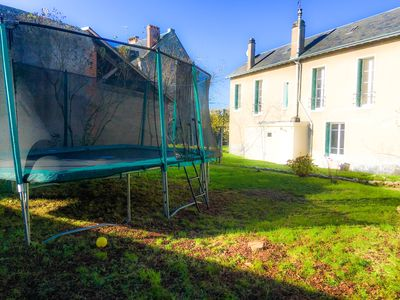 Photo for *** 4Br w/Huge Trampoline! Loire Valley Chateaux, Golf, Bike, Fine Dine