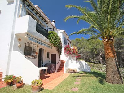 Photo for Lovely house close to Moraira town with A/C and communal gardens and pool