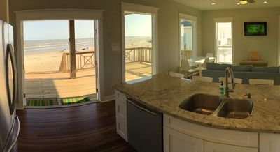 panoramic views of the ocean from the kitchen
