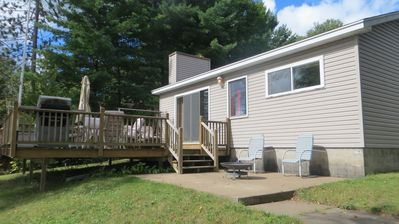 Photo for Water Front Cabin on Beautiful West Bass Lake, Sleeps 6, Swim, Fish, Boat