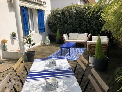 Photo for Atypical town house and pretty terrace 5 minutes from the beaches