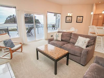 Photo for Hawk Creek and Beach Access Right Out Your Door in this Neskowin Condo!