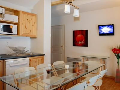 Photo for 1 Bedroom apartment for 6 persons with balcony. Living room with TV und sofa bed for two persons (16