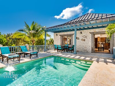 Photo for Coriander Cottage, a 1BR villa on Grace Bay Beach with great snorkeling