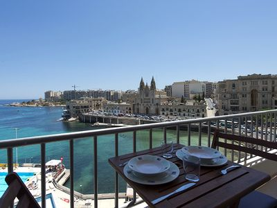 Photo for Exceptional Views St Julians Seafront 4-bedroom Apartment