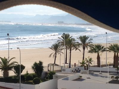 Photo for Spain. Mediterranean Sea Front Beach Apartment