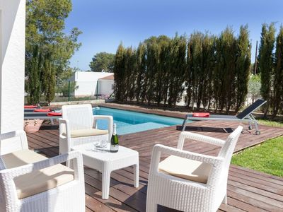 Photo for Stunning private villa for 9 guests with A/C, private pool, WIFI, TV, balcony and pets allowed