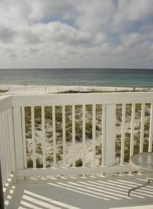Sea view from balcony of master bedroom.