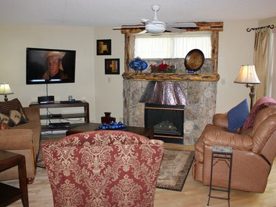 Photo for TW205 Ideal Condo w/Wifi, Common Hot Tub, Mountain Views, Fireplace