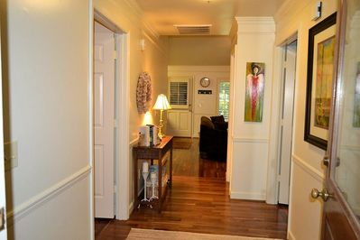 Welcome to Auburn Charm! Entry hall view from front door.