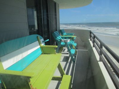 Photo for Ocean Front Condo with full view of the beach 1 bedroom 1 bath & a sleeper sof