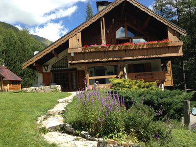 Photo for Beautiful spacious chalet, comfortable well oriented, facing south with garden.