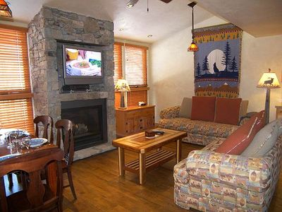 Photo for Natural Wood Floors, Stone Fireplace, and a Beautiful Open Kitchen at Telluride Lodge