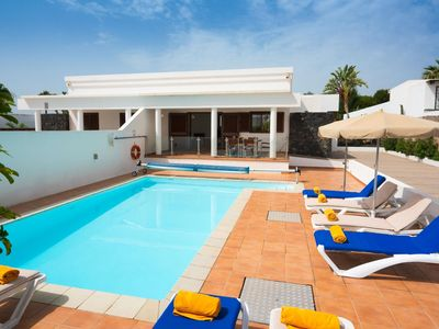 Photo for One bedroom Villa, sleeps 8 with Pool, Air Con and FREE WiFi