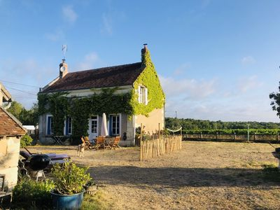 Photo for Charming authentic French holiday home on a hill surrounded by vineyards