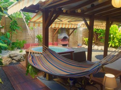 """Photo for GîteBaoTan 2 """"cherry country"""" 300m from the beach and jacuzzi in a private garden"""