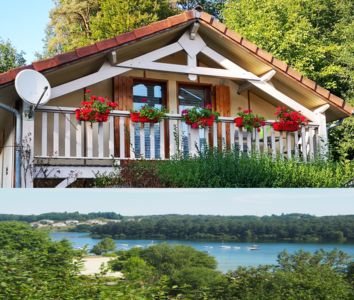 Photo for Chalet house Lake Saint-Etienne-Cantales fishing boat swimming pool hiking