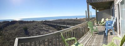 Awesome view of the Atlantic on the oceanside deck.