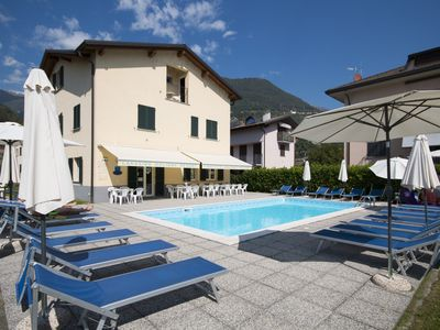 Photo for 2 rooms apartment with  pool in Domaso   Lake Como
