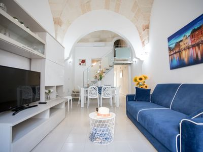 Photo for Apartment with courtyard, 150 meters from the Porto Cesareo beach