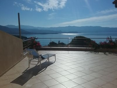 Photo for Studio in villa with large terrace and wonderful sea view