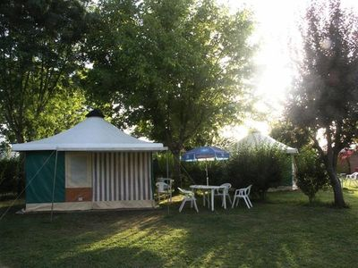 Photo for Camping Au Bois Dormant *** - Canvas Bungalow 3 rooms 5 people Without Bathroom