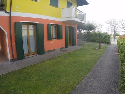 Photo for Large Apartment Private Garden - Beach included -Caorle near Venice