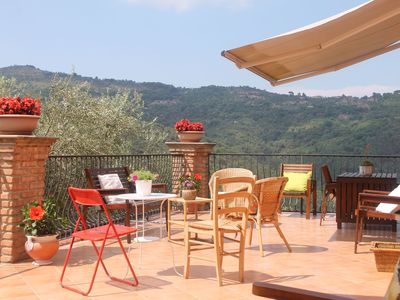 Photo for House in the Cilento with pool and views of the hills from the large terrace.