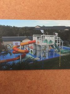Water slides & cool off area