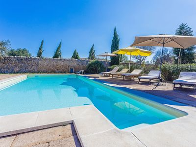 Photo for Beautiful old finca with private pool a stone's throw from nice village Alaró