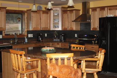 Kitchen with seating for 4 at the island