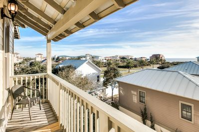 You can feel the Gulf Breezes from your private porch