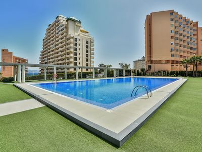 Photo for HORIZONTE II, Apartment with sea views in Calpe and free wifi