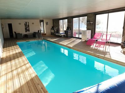 Photo for 4 * full nature rental with indoor pool access in a stud farm
