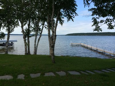 Photo for Mullett Lake Private Frontage, Wireless, Beautiful Sunsets, Lakeshore Campfires