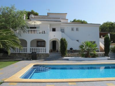 Photo for Beautiful Family Villa. Moraira. 12 people. 6 bedrooms, 4 bathrooms, private pool.