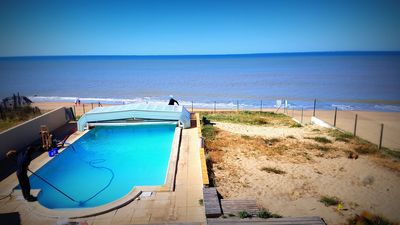Photo for LARGE VILLA ON THE BEACH with private heated pool (La Grière area)