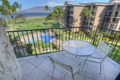 Now This ... Is A Vacation! - From the lanai of Kauhale Makai 528, enjoy only the sounds and sights of swaying palms, manicured gardens, and crystal clear blue waters as they lap on the sand below.