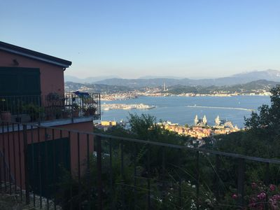 Photo for House overlooking the Gulf of Poets - La Spezia in the Cinque Terre Park