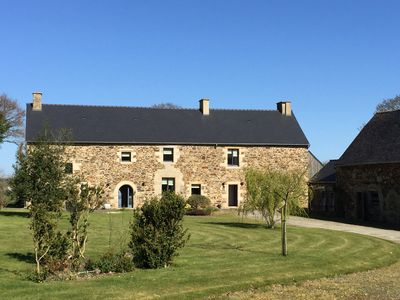 Photo for Luxury Farmhouse nr Dinan & Jugon Les Lacs with Swim Spa Pool, Gym, Barn, Garden
