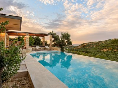Photo for A beautiful villa with private pool, located in a peaceful area 7km from Chania