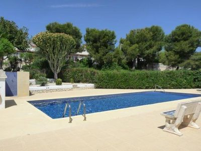 Photo for Delightful 3 bed duplex, air-con in bedrooms, close to the heart of Moraira Town