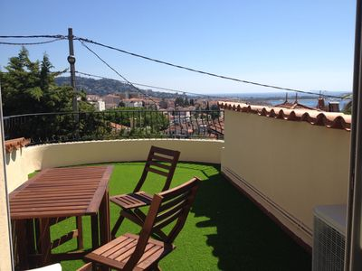 Photo for Cannes holiday apartment sea view (Nice Antibes)