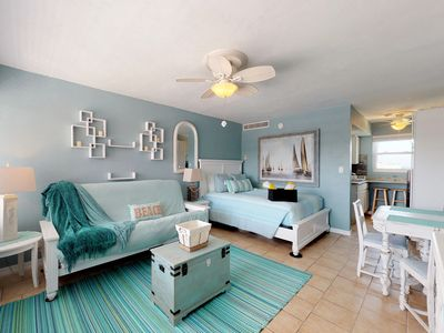 Photo for Newly renovated ocean view condo w/ shared pool & direct beach access!