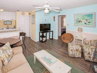 Photo for 2BR/1.5BA, Slps 6, Blcny, WiFi, W/D, Across Street From Beach, Pool, Free Activities-Seahorse 611