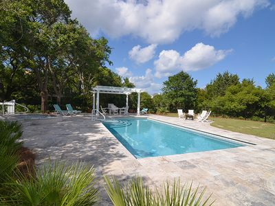 Photo for Majestic Beach House with Private Pool and Fishing Dock Close to Beach