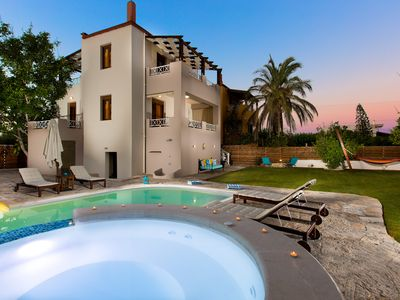 Photo for Aestas Residence! Private pool, outdoor Jacuzzi, ping pong & sea views!