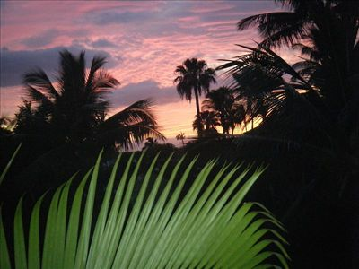 Beautiful sunset from our Lanai. Unit 6-208
