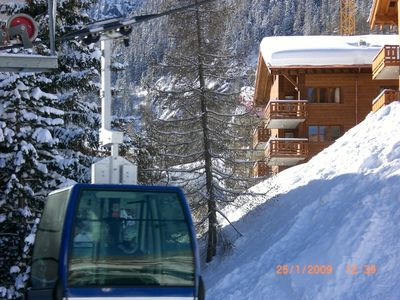 Photo for Grimentz - A Modern 2 Bedroom (sleeps 4) Ski Apartment, Across from the Piste